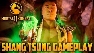 Mortal Kombat 11 - Gameplay exclusiva do Shang Tsung, mostrando tudo possível do novo DLC
