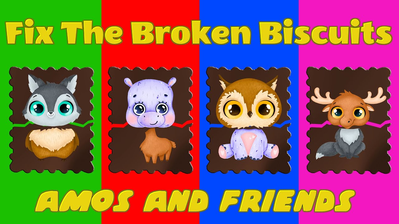 Wrong heads cartoon   Fix the broken biscuits #19 - Amos and friends