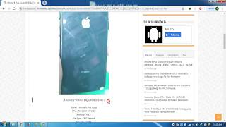 I phone 8 Plus Clone Flash File MT6582 Firmware Download 100% Tested