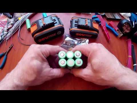 Собираем 12V аккумулятор шуруповерта на 5 Ah.