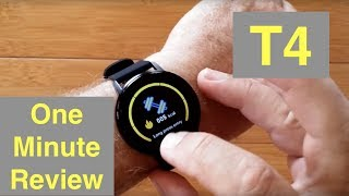 RUNDOING T4 Ultra-Thin Multi-Sport Blood Pressure Smartwatch: One Minute Overview