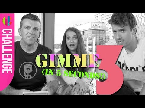 Greg James, Chris Smith and Dani Harmer PLAY The Gimme 3 Challenge!!!