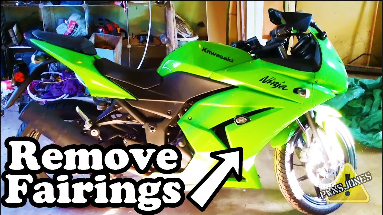 removing fairings ninja 250r - youtube