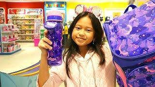 PAPA NEMENIN BELANJA 😎 Beli Tas Baru + Borong Peralatan Sekolah...!!!!  WOW
