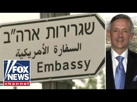 Jeffress leads opening prayer for US embassy in Jerusalem