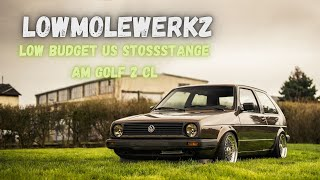 LowMoleWerkz | Low Budget US Stoßstange am Golf 2 CL