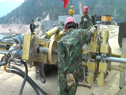 #Drilling Rig# Slope support construction site