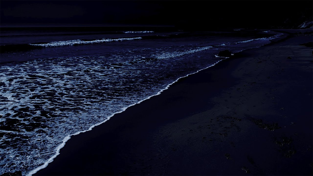 Download All You Need To Fall Asleep - Ocean Sounds For Deep Sleeping With A Dark Screen And Rolling Waves