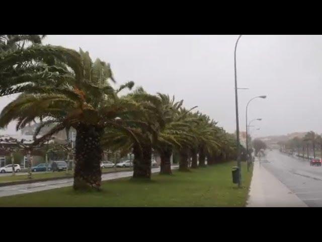La borrasca Ana llega a Pontevedra