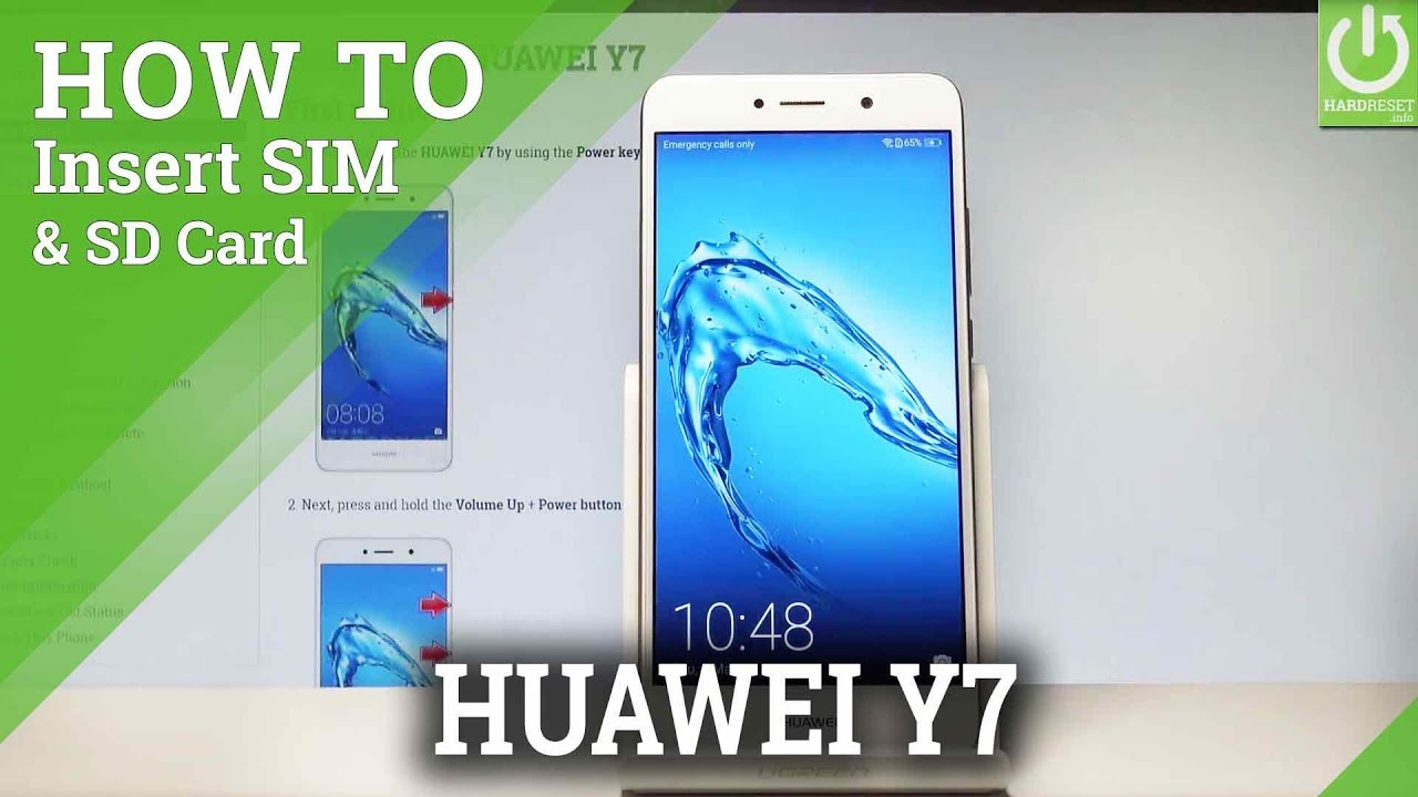 How to Insert SIM and SD Card in HUAWEI Y7 |HardReset info