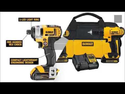 DEWALT DCK240C2 20v Lithium Drill Driver//Impact Combo Kit 1.3Ah New