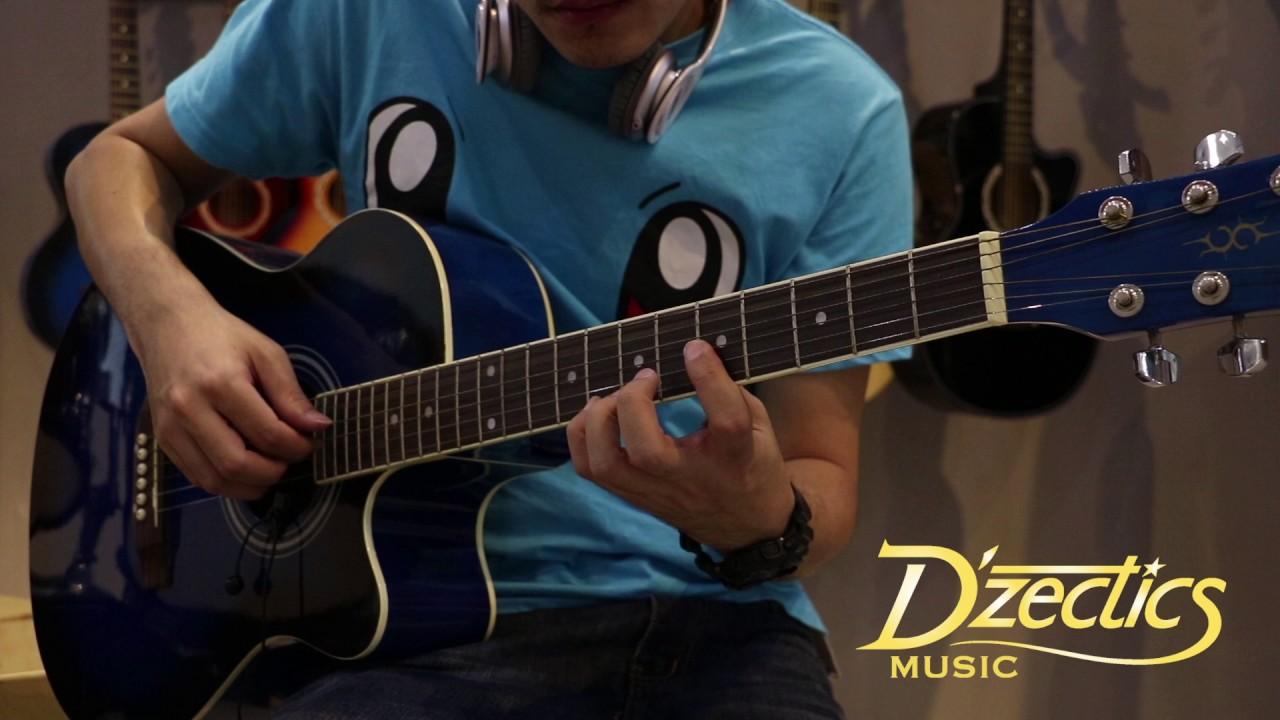 D'Zectics Music 40 inch Multi Color Acoustic Guitar Demo