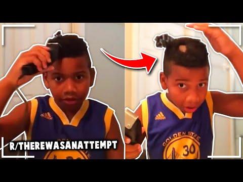 R/therewasanattempt | To Cut His Own Hair In Lockdown