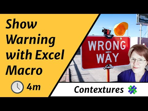 Use Excel VBA Macro to Show a Warning Message
