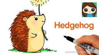 How to Draw a Hedgehog Easy