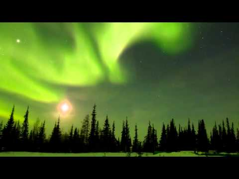 Northern Lights Time-lapse in Churchill, Manitoba, Canada