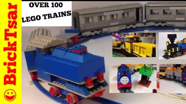 Over 100 Different LEGO Train sets! 1963-2015! - YouTube