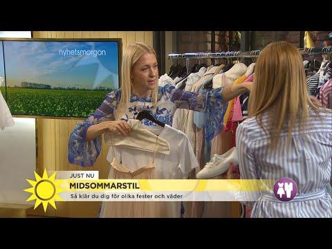 2a16ef6095c6 Klä upp dig till midsommar – Emilia de Poret visar festfina klänningar -  Nyhetsmorgon (TV4) - YouTube
