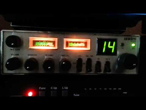 Channel 14 AM legal in the UK on a Uniden Trucker PTC-104