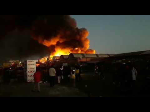 Lusaka City Market on Fire