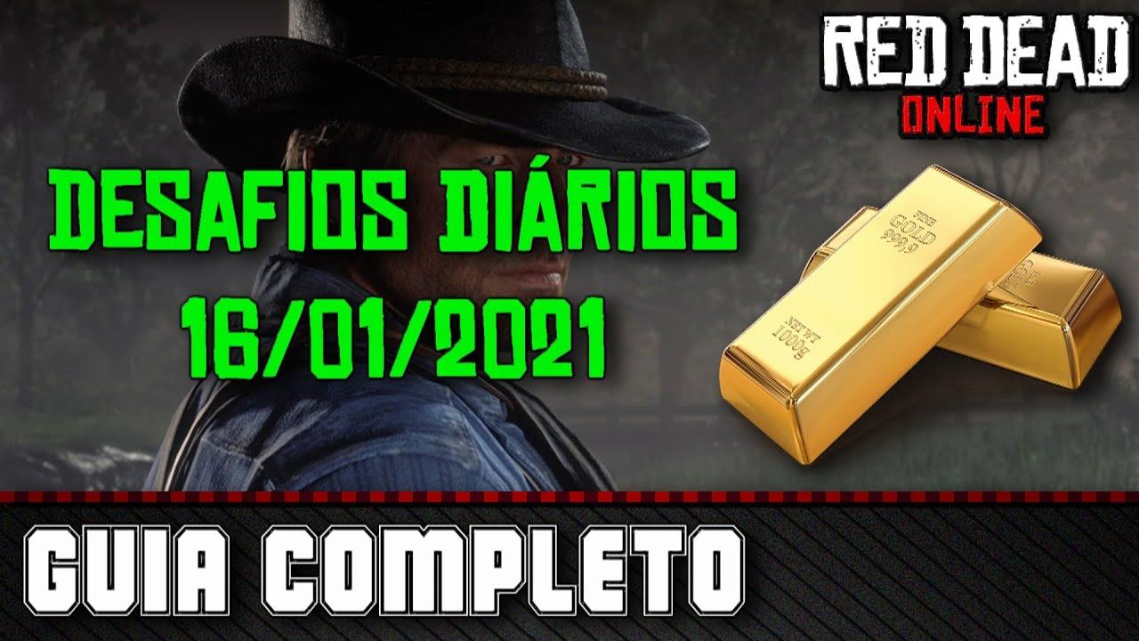 Desafios Diários - Red Dead Online 16/01/2021