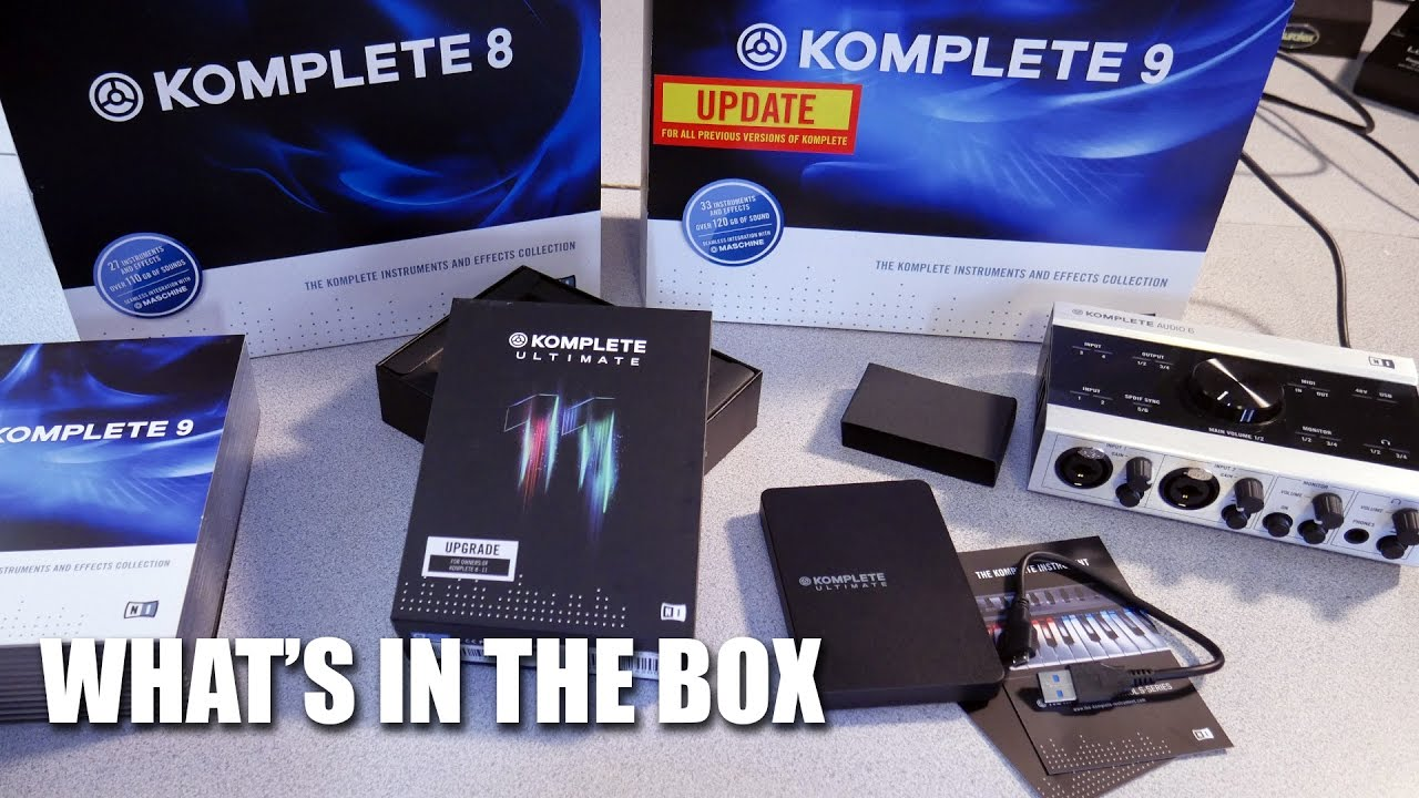 KOMPLETE 11 ULTIMATE - WHAT'S IN THE BOX?