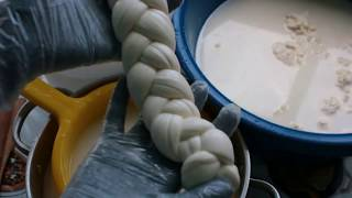 сыр Pasta filata / Вытяжные сыры / КОСИЧКА, МОЦАРЕЛЛА  /  Как вытягивать сырное тесто