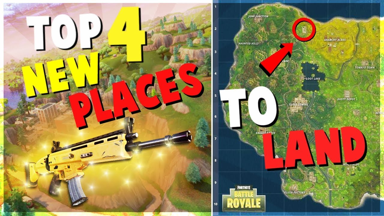 TOP 4 UNKNOWN NEW Places to Land for EASY WINS | Fortnite ...