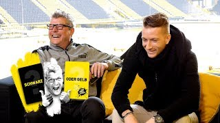 Marco Reus takes on Nobby |