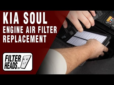 How to Replace Engine Air Filter 2018 Kia Soul L4 2.0L