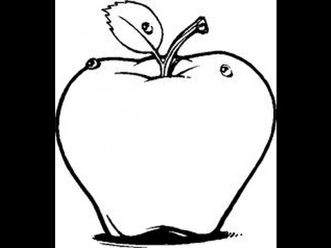 How to Draw Apple easy step by step drawing for kids and