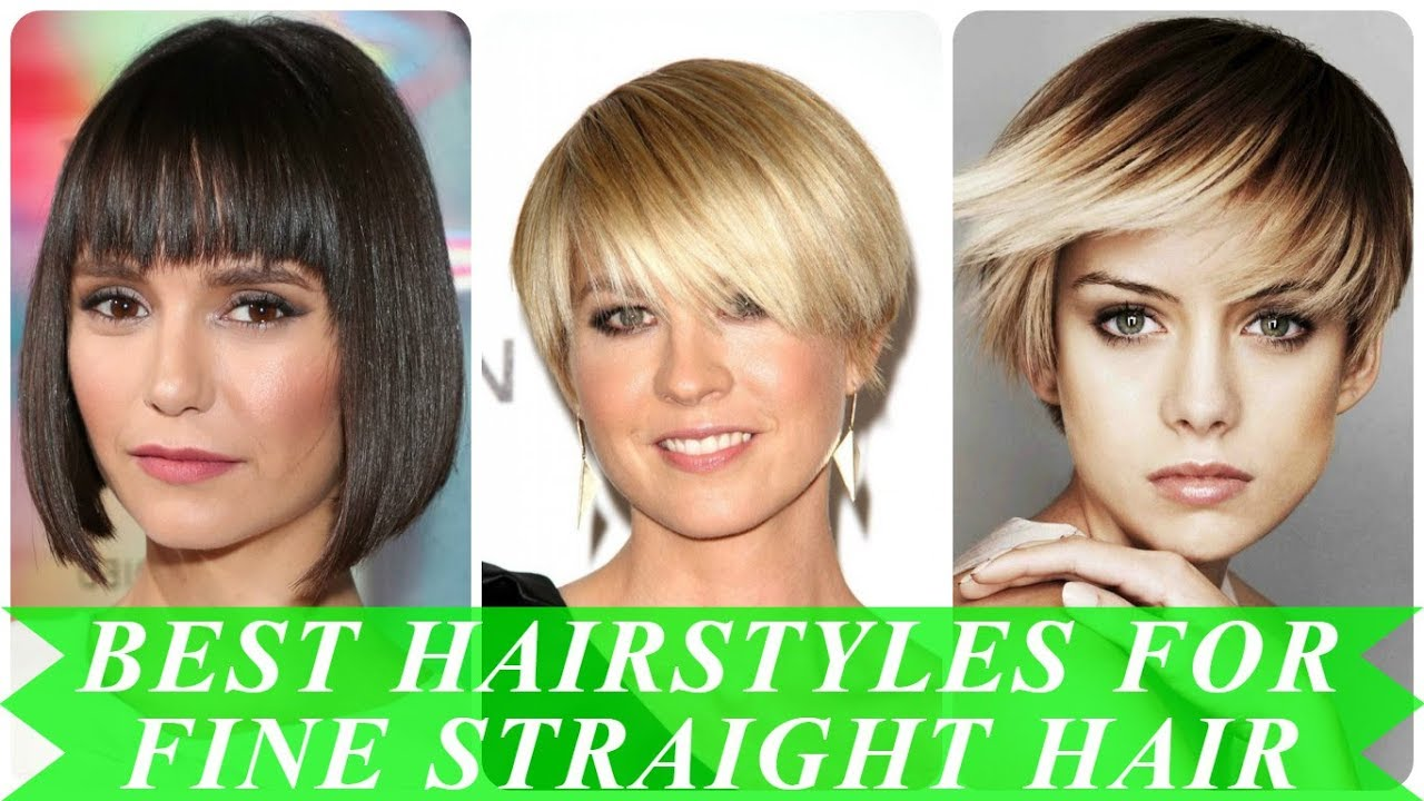 20 ideas for best haircuts for fine straight hair 2018 - YouTube