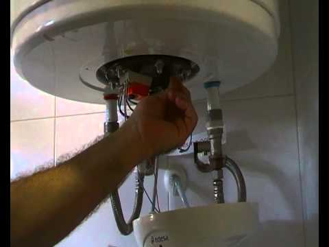 Como desmontar la resistencia de un termo o termotanque - Como instalar termo electrico ...