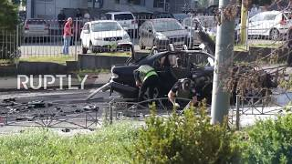 Ukraine  Police seal off scene as car bomb blast kills one