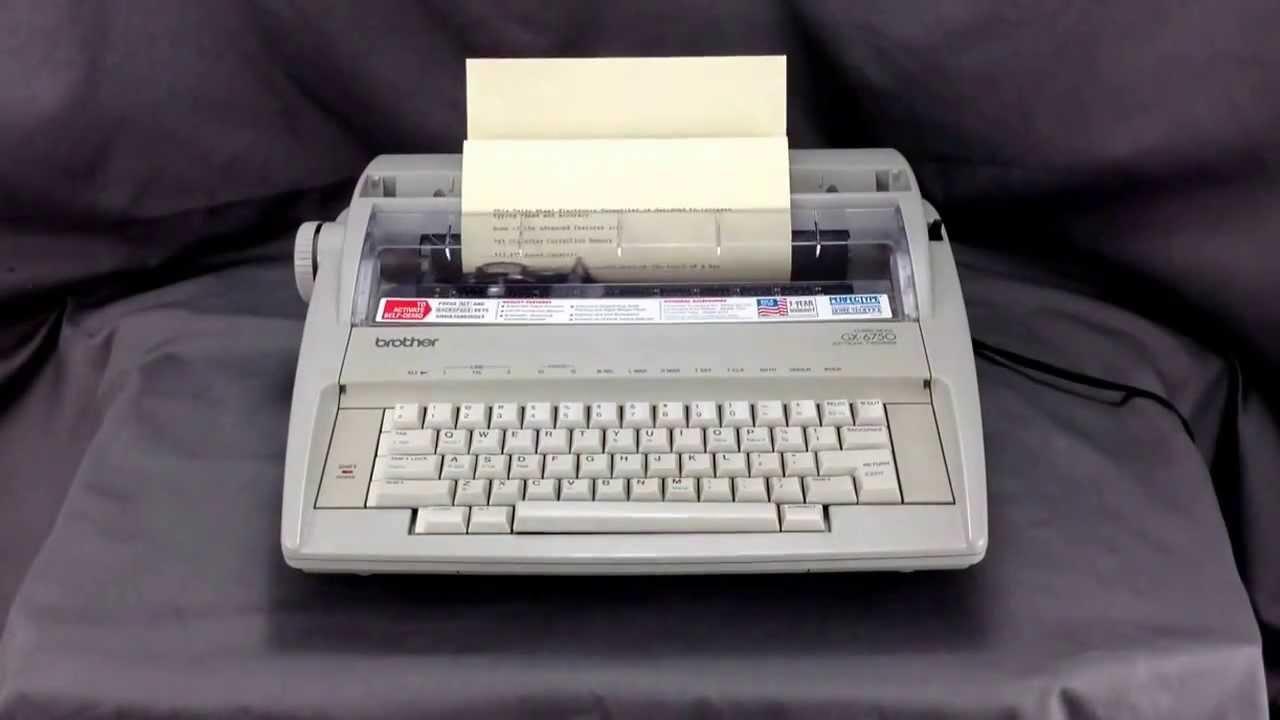 brother gx 6750 typewriter youtube rh youtube com brother gx-6750 daisy wheel electronic typewriter manual brother correctronic gx-6750 electronic typewriter user manual