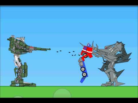 Incredibots Transformers - Megatron kills Optimus Prime