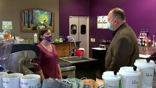Sen. Runestad visits the Trail's Edge Cafe in Wixom
