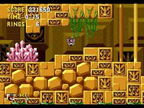 Charmy Bee in Sonic the Hedgehog (Genesis) - Longplay