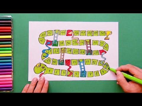 How To Draw Snakes And Ladders Game