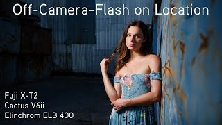 HSS Off Camera Flash with Fuji XT2 Cactus V6ii and Elinchrom ELB400