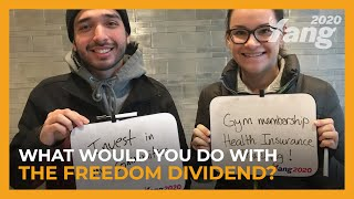 What Would You Do With the Freedom Dividend? | Andrew Yang for President