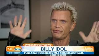 Billy Idol Interview - Today Show Australia 18/3/15
