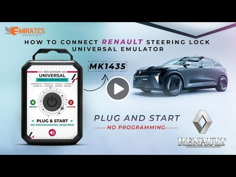 How To Connect Renault Samsung Universal Steering Lock Emulator Plug and Start