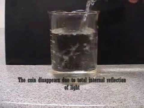 disappearing coin experiment total internal reflection