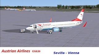 Fsx: Boeing 737-800NGX Austrian Airlines   Sevilla - Viena   #11