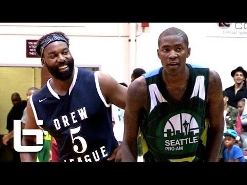 Jamal Crawford & Zach LaVine Put On CRAZY Show In Seattle Pro Am vs Drew League Game!!