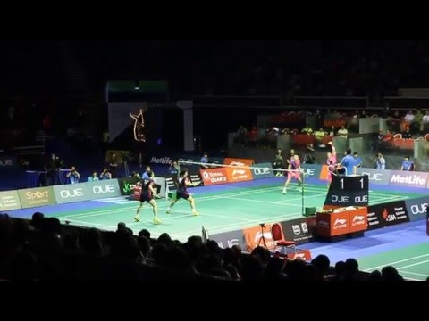 Super smashes of Fu Haifeng, Lee Yong Dae, great angle Semi Final SF Singapore Open 2016