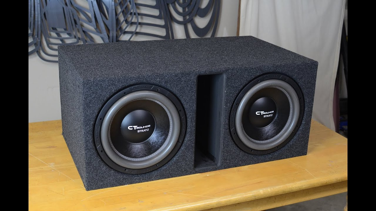 ct sounds how to build a ported subwoofer box for 2 12\