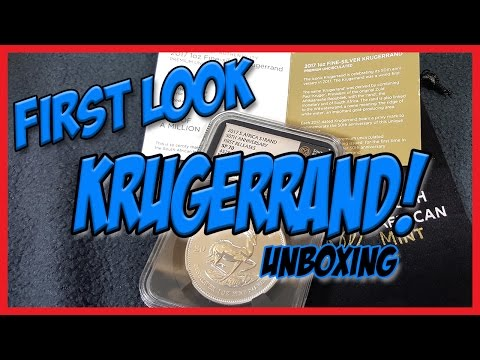2017 Silver Krugerrand | 50th Anniversary South African Mint | Unboxing & Review!