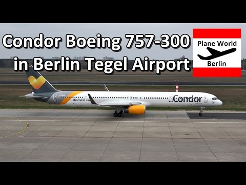 Condor Boeing 757-300 takeoff from Berlin Tegel Airport